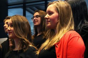 Members of the Toronto Youth Choir at Sing Loo fundraising concert, 2016